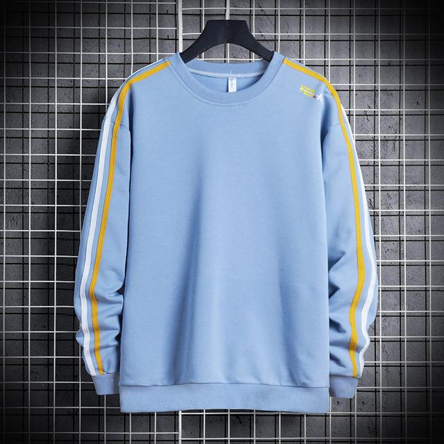 2020 Men's Casual Sweatshirt Hoodie Fashion 4XL Loose Hip Hop Sweatshirt Pullover Male Long Sleeve Street Wear Sudadera Hombre