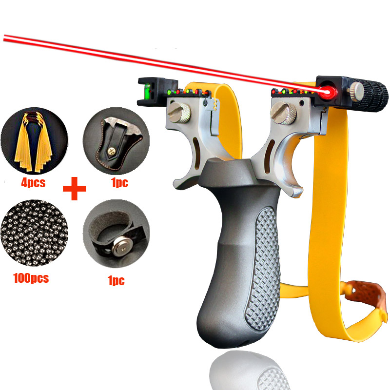 Toparchery Slingshot,catapult Slingshot, Hunting Slingshot Black ABS Professional Outdoor Catapult Slingshot Balls