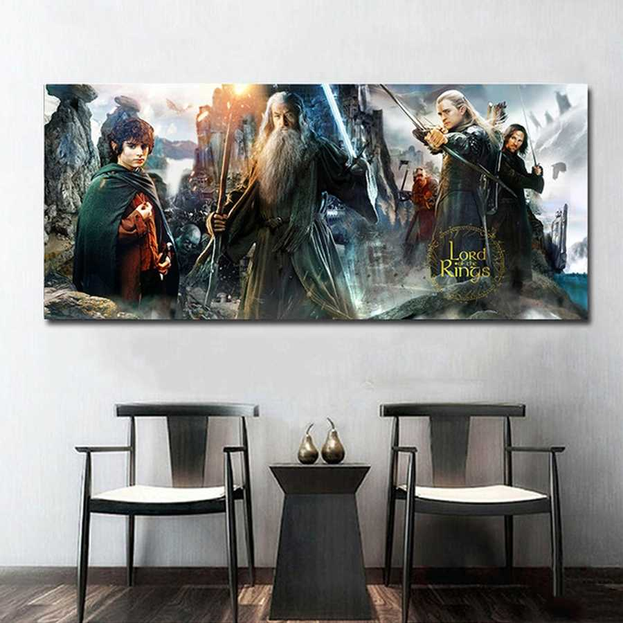 Full Square Diamond Painting The Lord Of The Rings Wall Poster MOVIE Rhinestone Diamond Mosaic Embroidery Home Decor JS5448