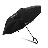 Carro invertido guarda-chuva dupla camada wingproof dobrável guarda-chuva para mini cooper r55 r60 f54 f60 universal acessórios do carro estilo