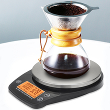 Yieryi Digital Drip Coffee Scale with Timer Glass Plane 3kg/0.1g Portable Kitchen Scale LCD Backlight High Precision Food Scale laboratory balance scale 50g 0 001g high precision jewelry diamond gem lcd digital electronic scale counting function portable