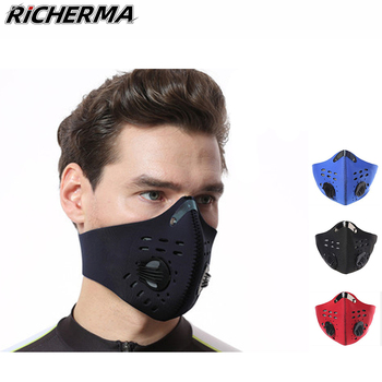 Outdoor Sports Cycling Dustproof Mouth Mask Breathable Black Face Shield Motorcycle 3d Cover Protective
