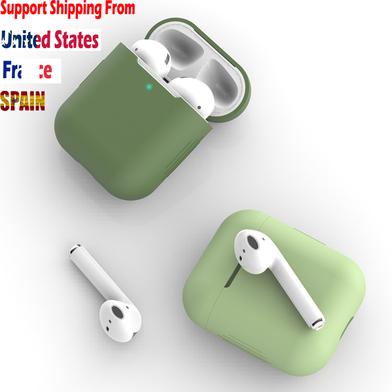 Silicone Cheap Colorful Anti Fall Protective Cover Shell Case Sleeve For Apple Airpods Wireless Bluetooth Earphone Charging Box Earphone Accessories Aliexpress