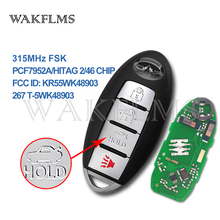 Remote-Key Infiniti KR55WK48903 Pcf7952a-Chip Smart-Car 2009 with for G37 Q60 315mhz