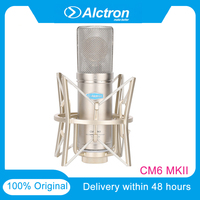 Alctron CM6MKII Large Diaphragm FET Professional Condenser Wired Microphone Low Noise Sound Studio For Recording Kit Karaoke