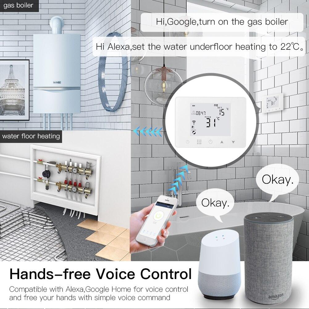 WiFi Smart LCD Wall-Hung Gas Boiler Water Underfloor Heating Temperature Controller Smart Life Tuya App Remote Control