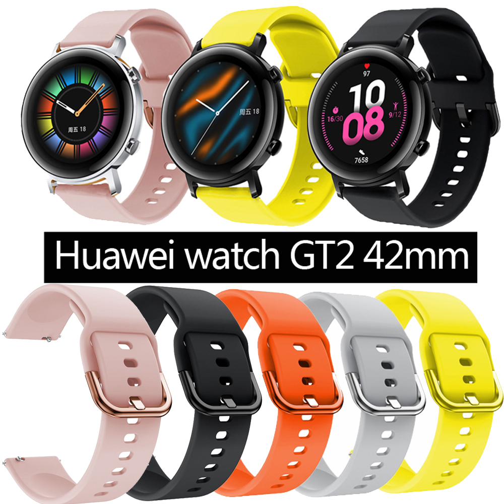 20mm Silicone Band For Samsung Galaxy Watch 42mmfor Xiaomi   Amazfit gtr 42mm For Huawei Watch GT2 42mm  For amazfit GTS