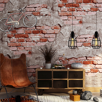 Wallpaper Brick Stone Stickers Vintage Rustic Industrial Loft Wall Paper for Bedroom Living room Sofa TV Background grey silver textured wallpaper home decor modern abstract living room background brick stone concrete industrial wall paper roll
