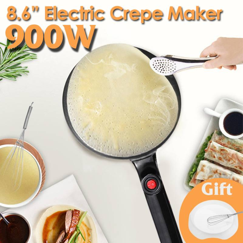 Electric Crepe Maker Pizza Pancake Machine Household Non-Stick Griddle Baking Pan Cake Machine Kitchen Cooking Tools 900W 220V