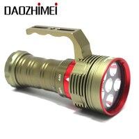 2019 tauchen Taschenlampe 6 * XM L2 LED 8000LM Hohe Helle Taschenlampe Wasserdichte Unterwasser 100Meter Tauchen Laterne + ladegerät + batterie-in LED-Taschenlampen aus Licht & Beleuchtung bei