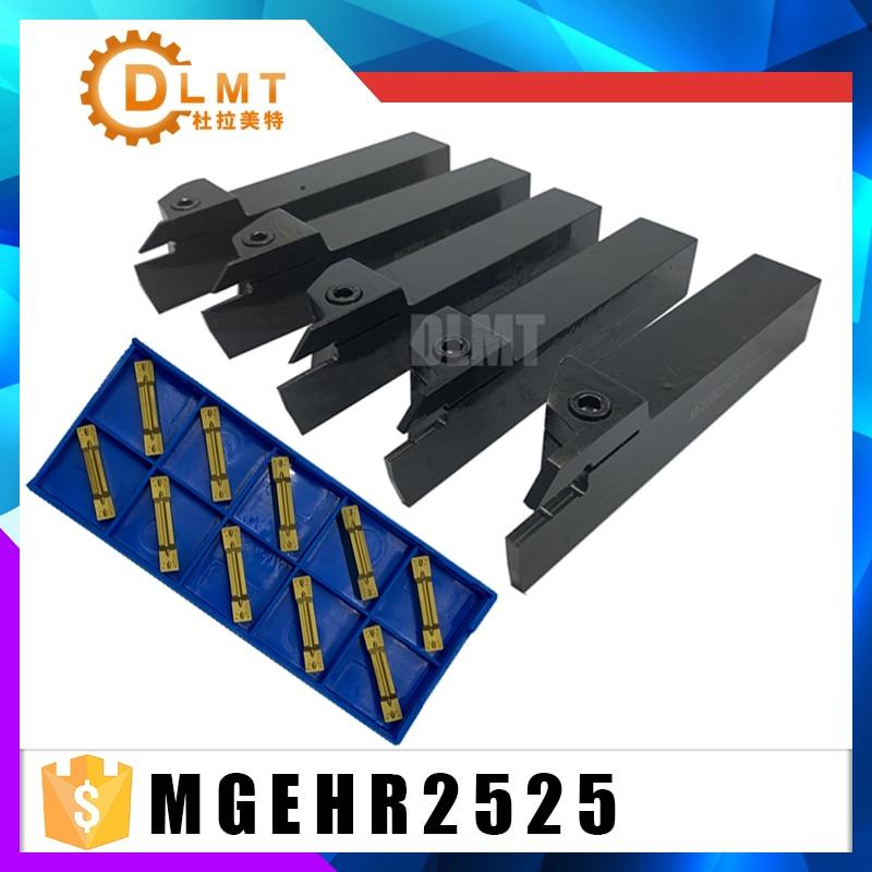 Tool Holder Set External Grooving Turning Lathe Bar MGEHR2525-2 MGEHR2525-2.5 MGEHR2525-3 MGEHR2525-4 MGEHR2525-5