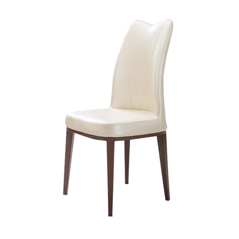Modern Minimalist Home Stool Stainless Steel Plated Dining Chair Light Luxury Coffee Restaurant  Hotel Club