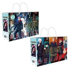 New Anime Jujutsu Kaisen Lucky Gift Bag Collection Toy With Postcard Poster Badge Stickers Bookmark Sleeves Gift