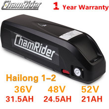18650 bateria 48V 52V ebike akumulator Hailong Downtube 20AH 30A 40A BMS 350W 500W 750W 1000W 1500W 18650 komórek BBS02 BBS03 BBSHD tanie tanio chamrider CN (pochodzenie) 10-20ah 48 v Lithium Battery
