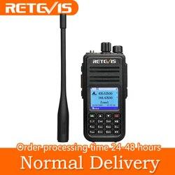 RETEVIS RT3S DMR радио цифровая рация с GPS DMR Ham Радио Amador 5 Вт VHF UHF двухдиапазонное шифрование Совместимо с Mototrbo