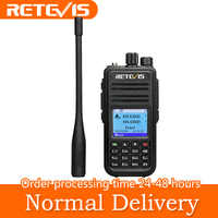 Rechape RT3S DMR Radio talkie-walkie numérique GPS DMR Ham Radio Amador 5W VHF UHF double bande cryptage Compatible avec Mototrbo