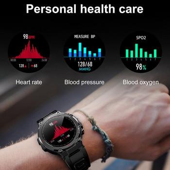 LEMFO K22 T Rex Pro Smart Watch Men 400Mah Big Battery Music Play Fitness Tracker Bluetooth Call Sport Smartwatch 2021 PK T Rex 2