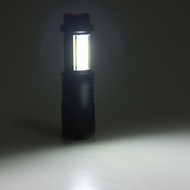 New arrive XP-G Q5 Built in battery Zoom Focus Mini led Flashlight Torch Lamp 2000 Lumens Adjustable Penlight Waterproof light 5