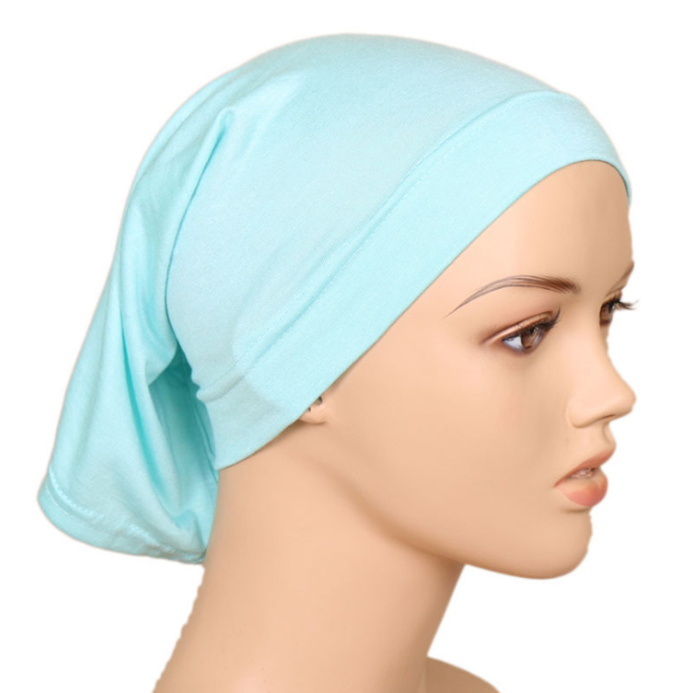 Muslim Headscarf  Women Hijab Cap Cotton Under Scarf Bone Bonnet Neck Cover