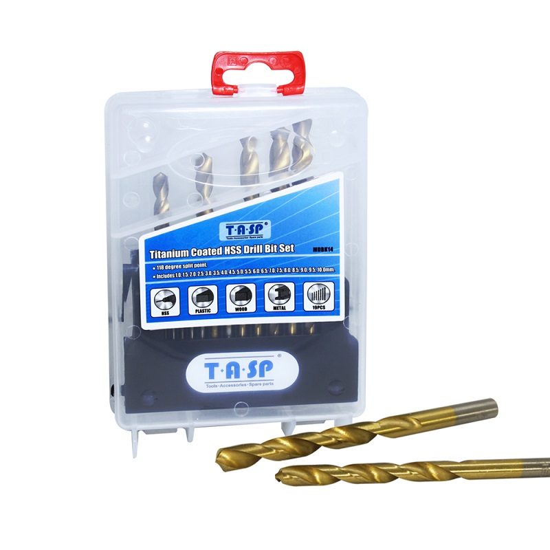 TASP 19pcs HSS Foret Set for Metal & Wood 1.0 ~ 10mm Titanium Coated - Foret - Photo 4