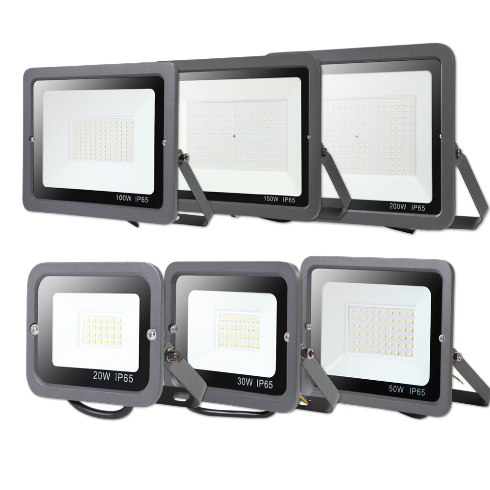Led Wall Washer Spotlight Floodlight 10W 30W 50W 100W 200W 300W  Waterproof Reflector IP65 220V Flood Light Outdoor