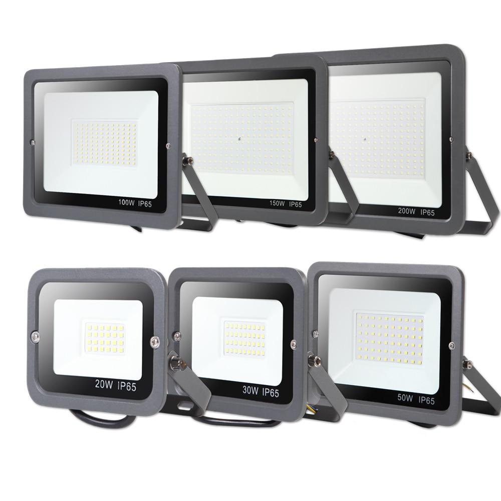 Led Wall Washer Spotlight Floodlight 10W 30W 50W 100W 200W 300W  Waterproof Reflector IP65 220V Flood Light Outdoor