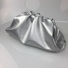 Grand pochette en cuir pour femmes, pochette souple de haute qualité, bourse de soirée, grands sacs à main pour dames, noir vert, neuf, 2019
