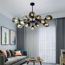 Nordic Glazen Kroonluchter Moderne Home Lustre Decor Eetkamer Opknoping Lamp Restaurant Creatieve Kroonluchter Verlichting Luminaria