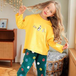 Детский пижамный комплект; детские пижамы для девочек; одежда для сна; хлопковая одежда для сна с героями мультфильмов для малышей; новый ве...