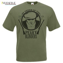 2019 Fashion Hot sale Olive Green By Order Of The Peaky Blinders T-Shirt Tommy Shelby Gang TShirt Tee shirt