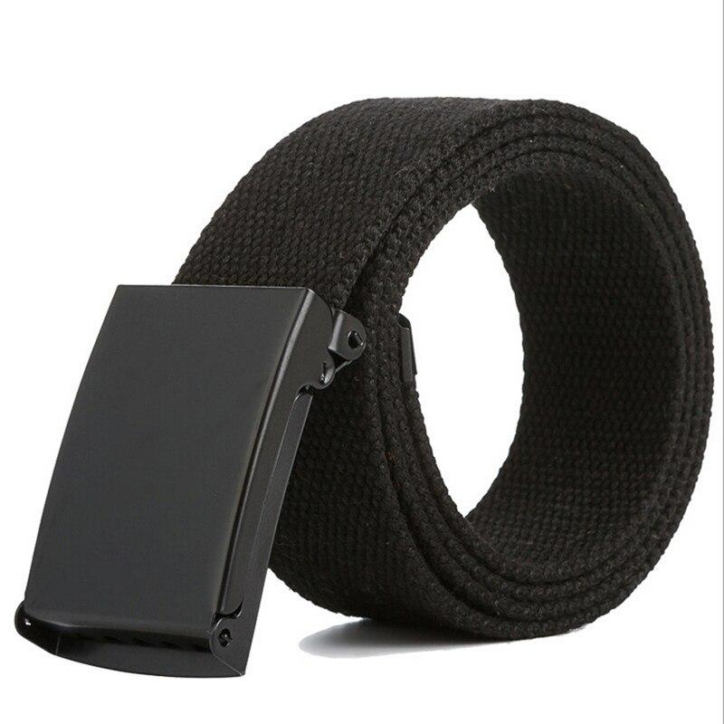 High Qualtiy Men Belt Unisex Male Casual Buckle Belts Canvas Webbing Waistband Army Tactical Waist Belt