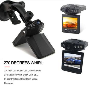 2.4 Inch Foldable Dash Cam Car Camera DVR 270 Degrees Whirl Dash Cam LED IR Light Vehicle Road Dash Video Recorder image