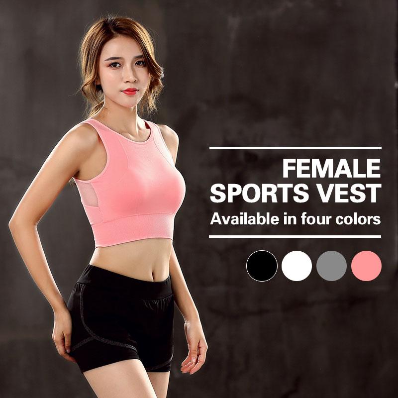 Vest Underwear Padded Bandage Sport-Bra Seamless Fitness Shockproof Sexy Running Women