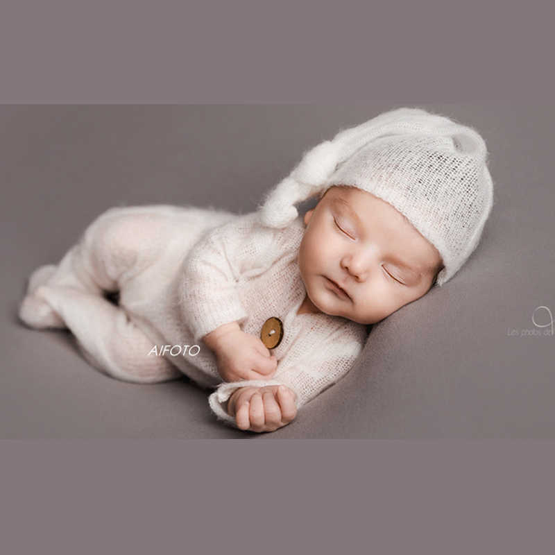 Baby Photography,Newborn Prop Set Photo Shoot Newborn Knit Set Mohair Boy Girl Body Shooting Outfit Boys Girls