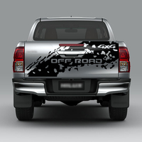 free shipping1piece 4x4 off road tail door graphic vinyls car stickers custom fit for toyota hilux 2011 2019