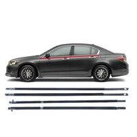 4PCS For Honda Accord 2003 2004 2005 2006 Chrome Outside Window Door Belt Weatherstrip Weather Strip Seal Trim Moulding Plastic