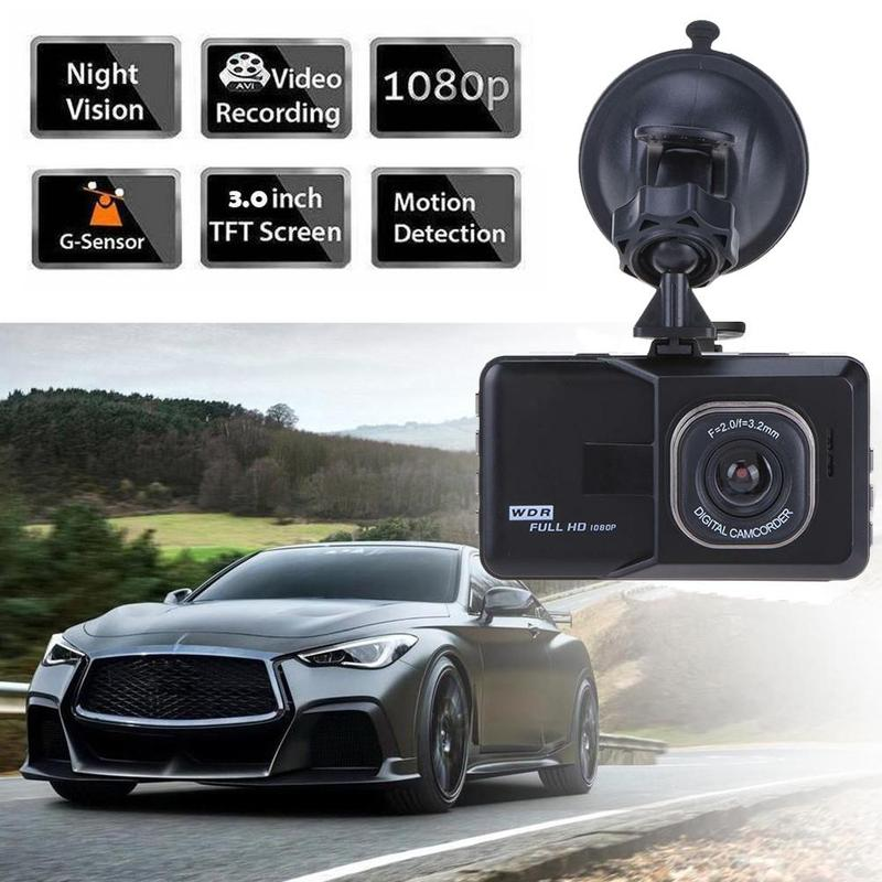 3-inch Full HD 1080P Car Driver Recorder Vehicle Camera DVR EDR Dashcam With Motion Detection Night Vision G Sensor