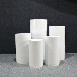 Großen Zylinder Sockel Display Kunst Decor Plinths Säulen Kuchen Tisch für DIY Hochzeit Dekoration Urlaub