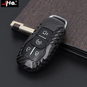 Image 2 - JHO REAL Carbon Remote Key Fob Shell Case Key Cover For Ford Explorer 2016 2019 2018 2017 XLT Limited Sport Car Accessories