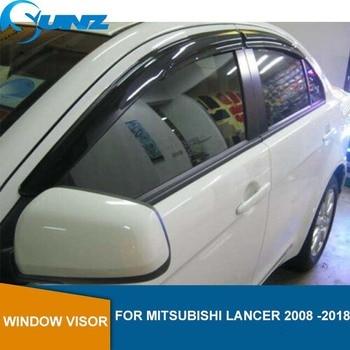 Side Window Deflectors For Mitsubishi Lancer 2008 2009 2010 2011 2012 2013 2014 2015 2016 2017 2018  Window rain protector SUNZ window visor vent shades sun rain guard 4pcs for volvo xc60 2009 2015