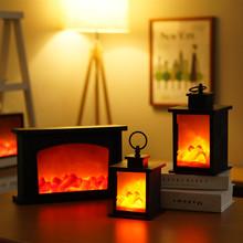 Lampa z płomieniem kominkowym LED symulowany efekt płomienia lampka imitująca ogień migotanie lampka nocna Winter Flame Lighs oświetlenie wewnętrzne Decor tanie tanio CN (pochodzenie) 5 size Wolnostojące LED Fireplace Flame Lamp Inne kominki Indoor Simulated Fire Lighting