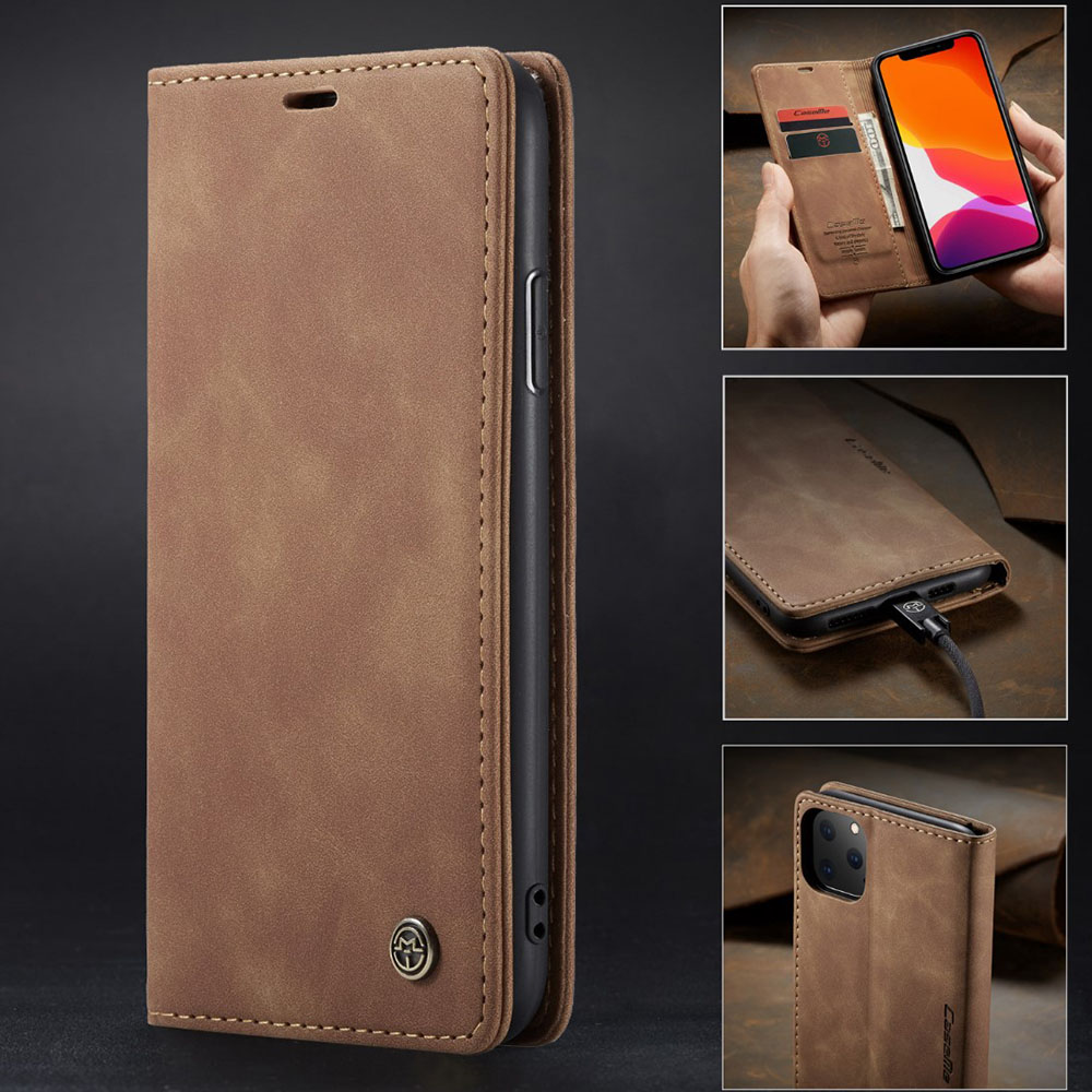 (5 colors)360 Full Cover Magnetic Leather Flip Case For Apple iphone 11 Pro X XR XS Max 8 7 6 6S Plus Luxury Wallet Case Capa image