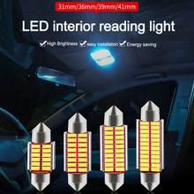 5 pces c10w c5w 4014 led canbus festão 31mm 36mm 39mm 42mm para lâmpada de carro interior luz leitura lâmpada placa licença branco 6000k