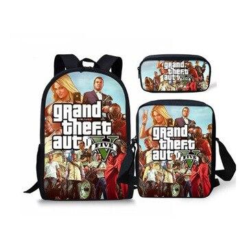 Zaino Per I Ragazzi Modello Hot Games GTA 5 1