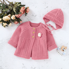 Baby Sweaters Knitted Newborn Bebes Girls Jackets & Coats Autumn Winter Infant Kids Knitwear Long Sleeve 0-2Y Children's Clothes autumn winter chidlren sweaters for newborn baby girls cardigans fashion white long sleeve toddler infant knitted jacket clothes