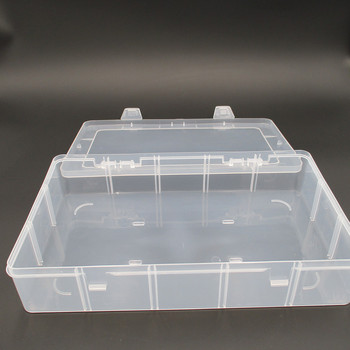 Large 15 Lattice Transparent Empty Box Pp Plastic Covered Box Rectangular Non Lattice Components Parts Box Storage Box Storage Boxes & Bins    -