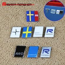 Для автомобиля Volvo, Модифицированная Автомобильная 3D наклейка Polestar, R-DESIGN, логотип, крышка багажника с маркировкой, аксессуары, цинковый сплав, вывеска, ремонт