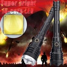 Die Meisten Hellsten 16-core XHP 110,2 Led Taschenlampe Power Bank 10000mah Taschenlampe Usb Aufladbare 21700 Batterie Zoomable 50W Laterne