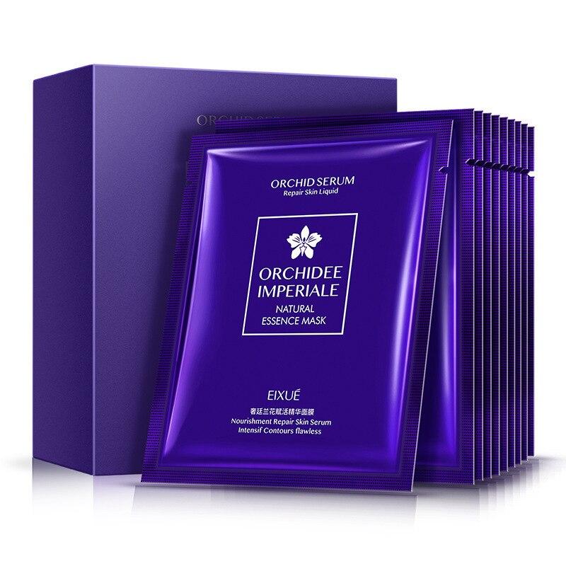 Luxury Orchid Essence Face Mask Anti-Aging Facial Mask Depth Replenishment Sheet Mask Female Skin Care Beauty Mask