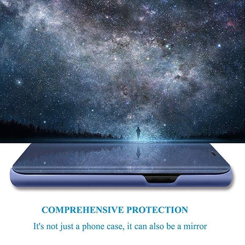 Mirror Case For Xiaomi Redmi 10X Pro 5G 4G Cover Smart View PU Leather Kickstand Flip Case For Xiaomi Redmi Note 9 s Pro MAX